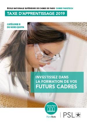 Chimie ParisTech Taxe apprentissage 2019 : Plaquette FR